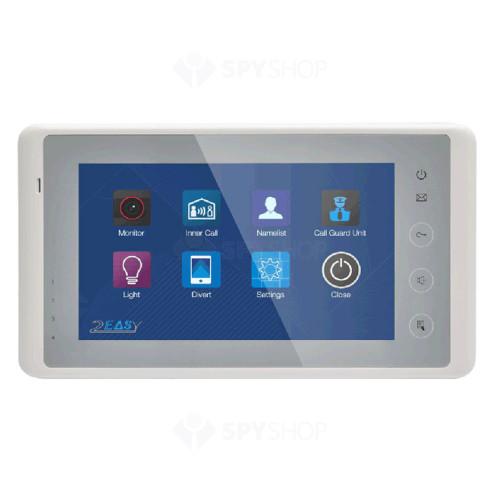 Videointerfon de interior DT27S-TD7(RO)-WH, 7 inch, 2 fire, touchscreen
