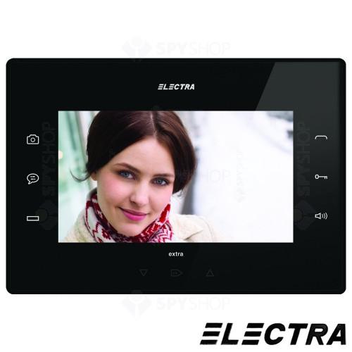 Kit videointerfon Electra Touch Line Extra VKE.P1SR.T7S9.ELB04, 1 familie, aparent, ecran 7 inch