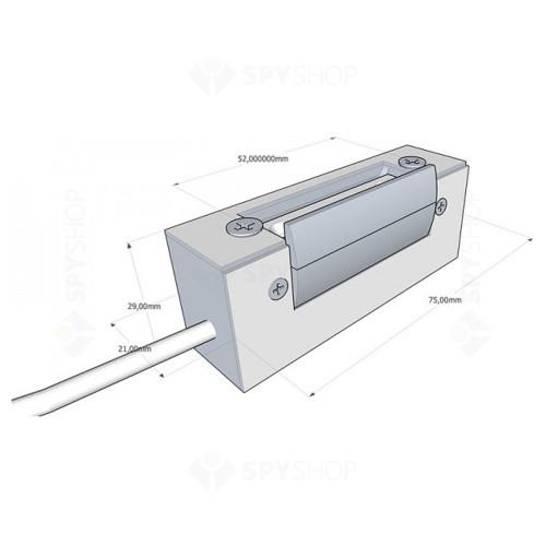 Yala electromagnetica rezistenta la foc DORCAS-52N512F, ingropat, 8-12 V