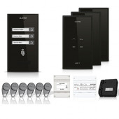 Set interfon Electra Smart INT-ELEC-18, 3 familii, RFID, 6 tag-uri