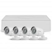 Sistem supraveghere exterior TurboHD Hikvision TVI-4EXT20-1080P-S, 4 camere, 2 MP, IR 20 m
