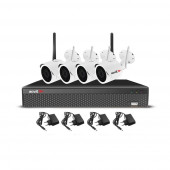 Sistem supraveghere exterior wireless AHD Acvil KIT WIFI-2MP-30, 4 camere IP, 2 MP, IR 25 m