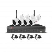 Sistem supraveghere exterior wireless AHD Acvil KIT WIFI-2MP-30, 4 camere IP, 2 MP, IR 25 m