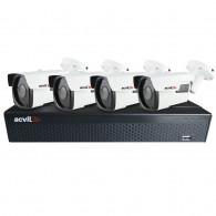 Sistem supraveghere exterior basic Acvil B4EXT40-5MP, 4 camere, 5 MP, IR 40 m