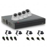 SISTEM SUPRAVEGHERE INTERIOR XVR CU 4 CAMERE VIDEO ACVIL XVR-4INT20-1080P