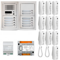 SET INTERFON CU 10 POSTURI DE INTERIOR AIPHONE GTA10E