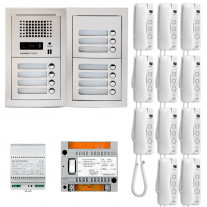 SET INTERFON CU 11 POSTURI DE INTERIOR AIPHONE GTA11E