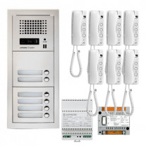 SET INTERFON CU 7 POSTURI DE INTERIOR AIPHONE GTA7E