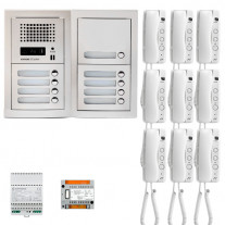 SET INTERFON CU 9 POSTURI DE INTERIOR AIPHONE GTA9E