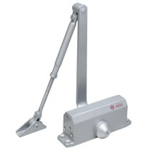 Amortizor hidraulic cu brat pentru usa SA-5012AW-sv, 25-45 Kg, argintiu, aluminiu