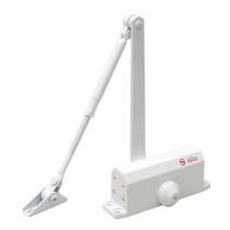 Amortizor hidraulic cu brat pentru usa SA-5012AW-wh, 25-45 Kg, alb, aluminiu