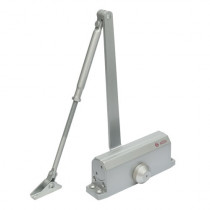 Amortizor hidraulic cu brat pentru usa SA-6033AW-sv, 40-65 Kg, argintiu, aluminiu