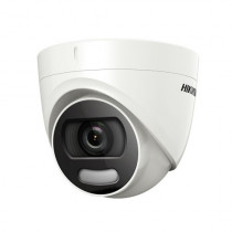 Camera de supraveghere Dome Turbo HD Hikvision DS-2CE72DFT-F, 2 MP, IR 20 m, 3.6 mm