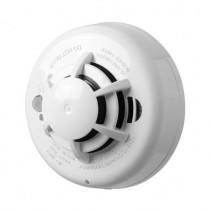 Detector de fum fotoelectric wireless DSC WS-4936, senzor caldura, buzzer 85 db, 433 MHz