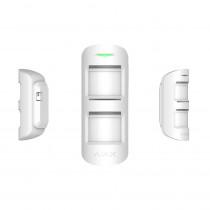 Detector de miscare de exterior wireless Ajax MotionProtect Outdoor WH, 2xPIR, 15 m, pet immunity