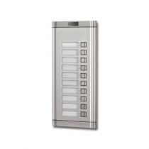 Extensie interfon exterior Genway WL-02NEK 1*10, 10 familii, ingropat, aluminiu