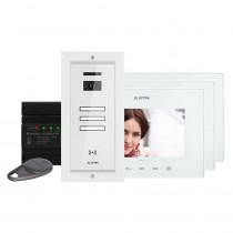 Kit videointerfon Electra Touch Line Smart+ VKM.P3FR.T7S4.ELW04, 3 familii, ingropat, 7 inch