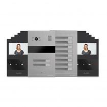 Kit videointerfon Slinex MA-02+MA-08+10xSM-04M-B, 10 familii, ingropat, ecran 4 inch
