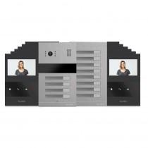 Kit videointerfon Slinex MA-04+MA-8+12xSQ-04M-B, 12 familii, ingropat, ecran 4 inch