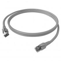Patchcablu Cat.6a/10 GB ecranat SCHRACK TOOLLESS LINE H6GTG01K0G, 1 m, RJ45, LS0H