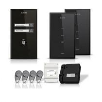 Set interfon Electra Smart INT-ELEC-11, 2 familii, RFID, 4 tag-uri