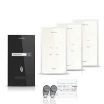Set interfon Eletra Smart INT-ELEC-26, 1 familie, 3 posturi interior, RFID