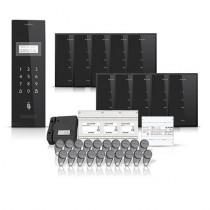 Set interfon pentru bloc smart electra INT-ELEC-20, 10 familii, RFID, 20 tag-uri