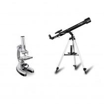 Set telescop 60/700 AZ1 si microscop BIODISCOVER 20-1280X Bresser