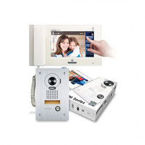 Set videointerfon Aiphone JMS-4AEDF.MD, 1 familie, 7 inch, aparent