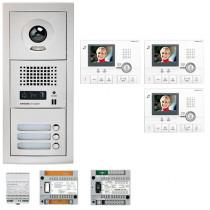 Set videointerfon cu 3 posturi de interior Aiphone GTV3E