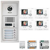 Set videointerfon cu 4 posturi de interior Aiphone GTV4E