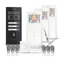 Set videointerfon Electra smart VID-ELEC-22, 3 familii, aparent, 3.5 inch