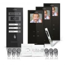 Set videointerfon Electra Smart VID-ELEC-23, 3 familii, aparent, 3.5 inch