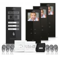 Set videointerfon Electra Smart VID-ELEC-24, 3 familii, aparent, 3.5 inch