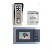 Set videointerfon Genway FS7V3, 3.5 inch, aparent, metal, vila