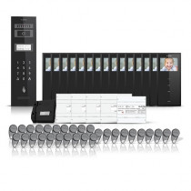 Set videointerfon pentru bloc Electra Smart VID-ELEC-27, 15 familii, aparent, ecran 3.5 inch