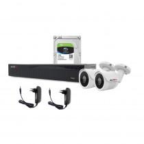 Sistem supraveghere exterior complet Acvil C2EXT30-5MP, 2 camere, 5 MP, IR 30 m