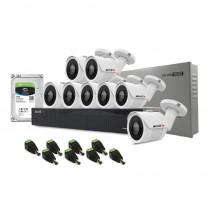 Sistem supraveghere exterior complet Acvil C8EXT30-2MP, 8 camere, 2 MP, IR 30 m