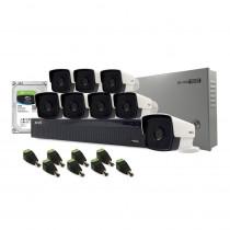 Sistem supraveghere exterior complet Acvil C8EXT80-1MP, 8 camere, 1 MP, IR 80 m