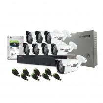 Sistem supraveghere exterior complet Acvil C8EXT40-2MP, 8 camere, 2 MP, IR 40 m