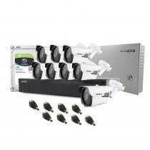 Sistem supraveghere exterior complet Acvil C8EXT40-5MP, 8 camere, 5 MP, IR 40 m