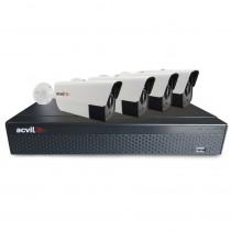 SISTEM SUPRAVEGHERE EXTERIOR XVR CU 4 CAMERE VIDEO ACVIL 4EXT40-1080P