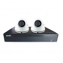 Sistem supraveghere interior basic Acvil B2EXT20D-5MP, 2 camere, 5 MP, IR 20 m