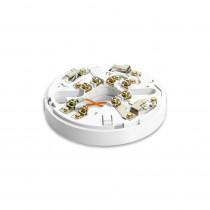 Soclu de montaj conventional cu releu si dioda Schottky Hochiki CDX YBO-R/6RS(WHT), cu blocare, cablu 2.5 mm2, ABS alb