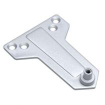 Suport amortizor hidraulic pentru usa PB-02, otel, argintiu