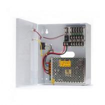 GNV-1205-09F este o sursa de alimentare in comutatie de la GNV. Are tensiunea de iesire 12 Vcc si curentul de iesire 5 A. Dispune de 9 canale protejate cu sigurante si carcasa metalica.