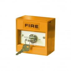 Buton de incendiu conventional cu cheie Hochiki CDX CCP-KS03, 3 pozitii, IP24, ABS portocaliu