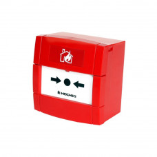 Buton de incendiu conventional Hochiki CDX Marine MCP-1A, aplicatii marine, IP24, ABS rosu