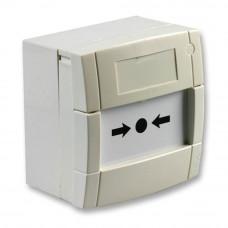 Buton de incendiu KAC MCP3A-W000SG-STCK-12, aparent, alb
