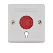 Buton de panica cu memorie mecanica 5C-68B, cheie, micro-switch, aparent